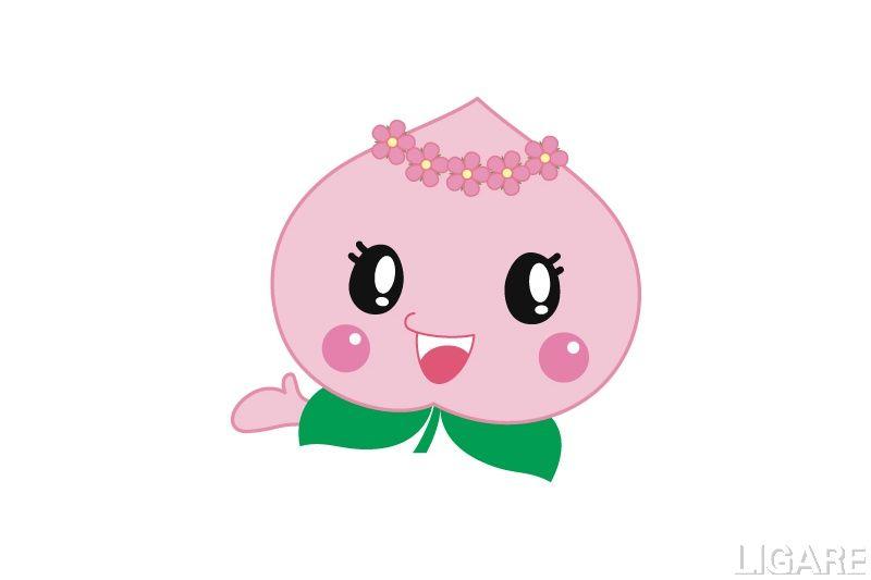 岡山県赤磐市のマスコットキャラクター あかいわモモちゃん