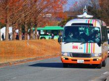 自動運転バスが走行する様子