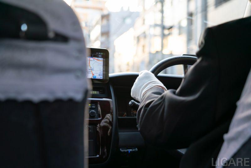 タクシー車内のイメージ写真