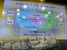 2017年に発表したスマートタイヤコンセプトのさらなる進化を表明