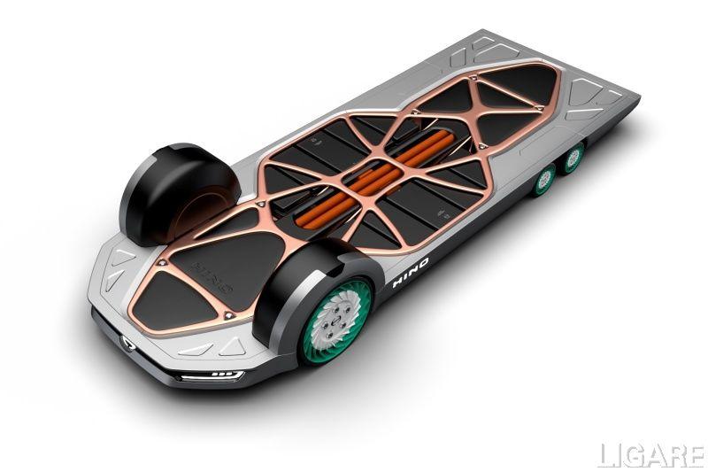 日野自動車が東京モーターショー2019で発表した「FlatFormer」