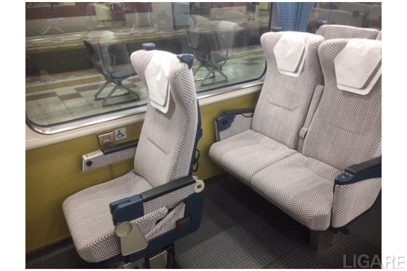 車いす席設置車両の一例