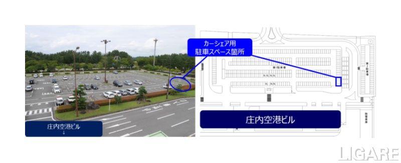 車両の駐車場所