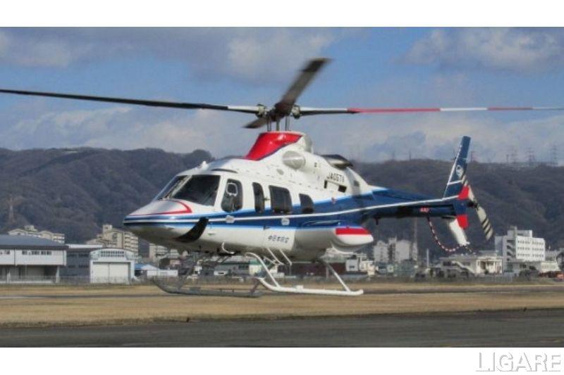 使用するヘリコプター「ベル430」
