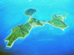 粟島の全島図