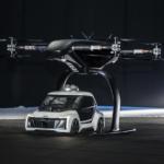 自動運転車とドローンの組み合わせ「空飛ぶタクシー」を初公開 アウディ、エアバス他