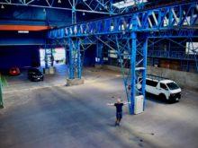 Mobi Lab.を構える旧倉庫の内観