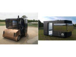 実証実験に使用する車両MOOX(左) SQUAL(右)