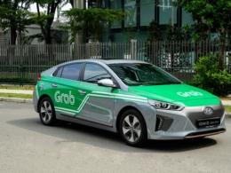 Grabのデザインを施したヒュンダイの電気自動車アイオニック (出展:Grab)