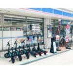 Luup、大阪のローソン4店舗に電動キックボードのポート導入