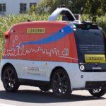 【国内初】無人自動配送ロボットが車道を自動走行する実証実験開始
