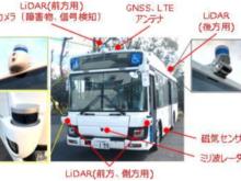 使用した自動運転バス車両