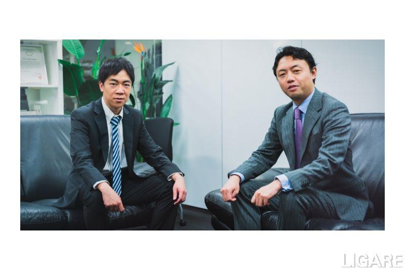 ティアフォー 創業者の加藤真平氏(左)と東京大学 教授の松尾豊氏(右)