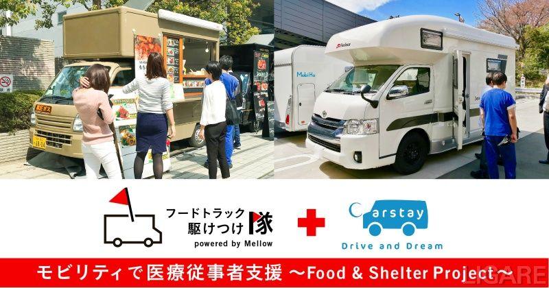 「モビリティで医療従事者支援 〜フード&シェルタープロジェクト〜」イメージ画像
