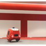 自動でエレベーターに乗る配送モビリティ 日本郵便らが実証