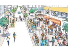 「曜日や時間帯に応じて道路空間の使い方が変わる路側マネジメント」のイメージ