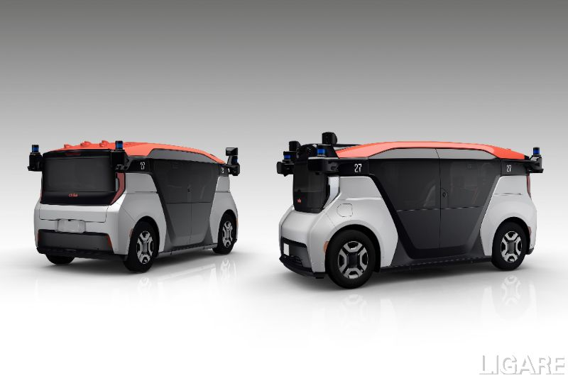 GM、クルーズ、Hondaの3社で共同開発している自動運転モビリティサービス事業専用車両「クルーズ・オリジン」