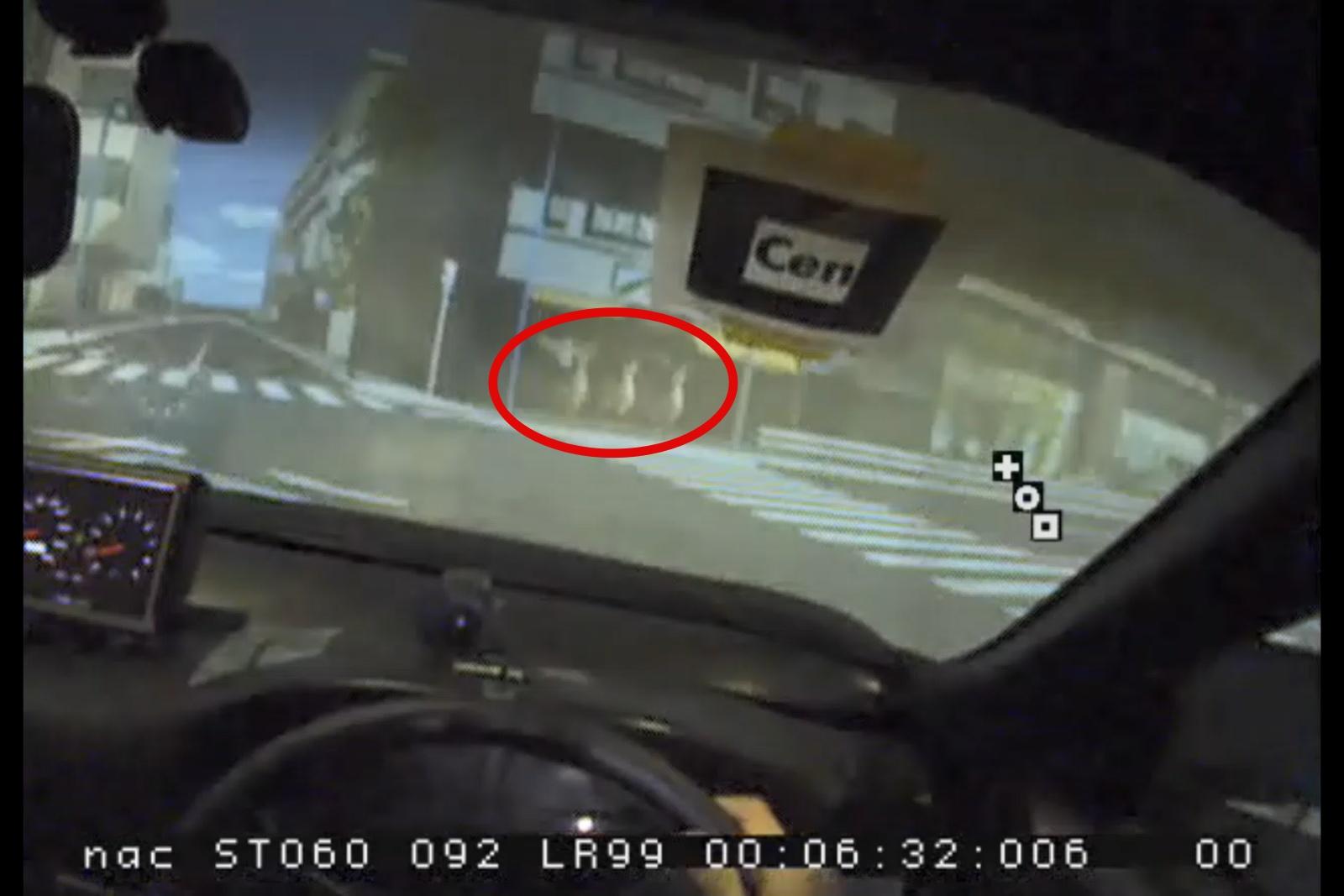 ドライブシミュレーターによる検証映像の切り抜き