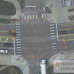 図4. 郊外道路の標識配置マップ