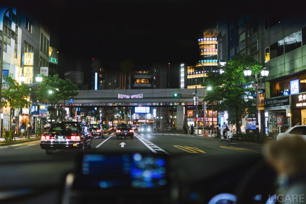 都内のタクシーイメージ図
