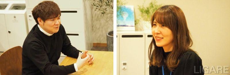上士幌町役場 企画財政課 ICT推進室の梶達氏(左)と外山愛美氏(右)