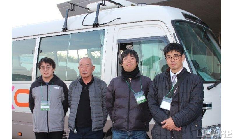 埼工大の自動運転バスの開発チーム(一部)