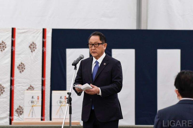スピーチを行う豊田章男社長