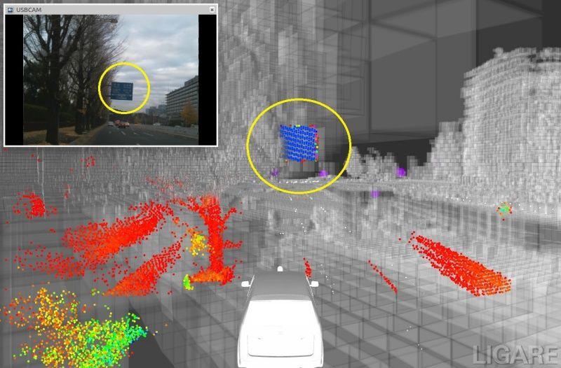 【3D-LiDARで収集した点群データ】