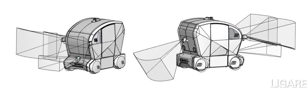 パイオニア製「3D-LiDARセンサー」搭載イメージ図