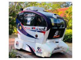 PSSIの「3D-LiDAR センサー」が搭載された自動運転シャトルバス