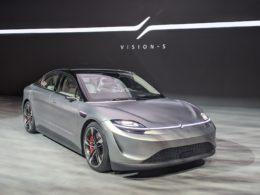 ソニーがCESで発表した試作EV「VISION-S」