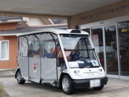 上小阿仁村で運行する自動運転車両