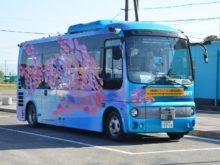 「ひたちBRT」の専用道路で実証実験を行った自動運転バス