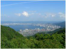 比叡山から大津市内を撮影したもの。